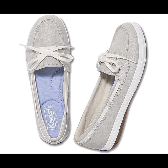 f33c8a0aa24 Glimmer Metallic Linen Boat Shoe